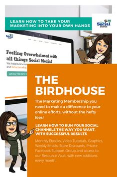 An online membership to The Birdhouse can help you learn how to run your Social Channels the way you want, with successful results.😀  #smm #thesocialbirds #onlinemembership #marketingtips #ebookdownloads #videotutorials #marketingmembership