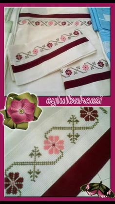Kanavice, Etamin Embroidery Stitches, Hand Embroidery, Bordados E Cia, Bargello, Cross Stitch Designs, Projects To Try, Holiday Decor, Crochet, Hacks