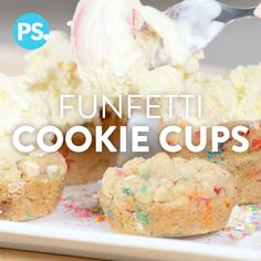 Your ice cream bowl just got a serious upgrade. Why eat ice cream out of a normal bowl when you could snack sweetly on a Funfetti-filled cookie cup instead? We've loaded ours up with tons of sprinkles (and happiness), plus we have the awesome YouTuber Megan Batoon in the kitchen to help us out. If you're more of a chocoholic fan, then we've got you covered too with a brownie bowl.