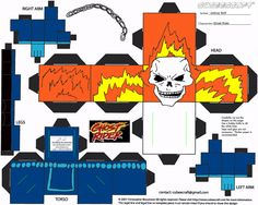 Image detail for -ghost rider paper cube craft