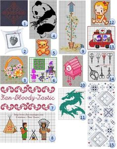And more free cross stitch patterns