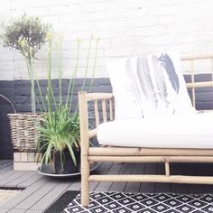 Outdoor ~ TineK bamboo sofa