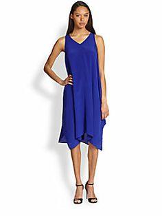 Eileen Fisher - Silk Asymmetrical Dress