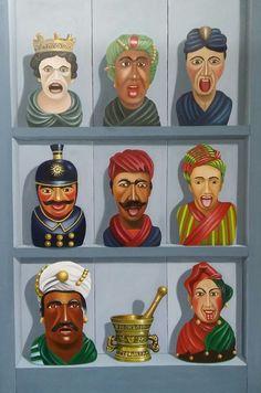 Fijnschilderwerk 60 x 90 cm Uithangbord voor apothekers