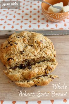 Here's a simple quick bread recipe. Whole wheat flour, buttermilk, raisins. Quick and easy. And the kids loved it! #easyrecipe
