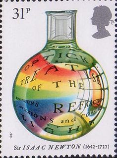 300th Anniversary of The Principia Mathematica by Sir Isaac Newton 31p Stamp (1987) Optick Treatise