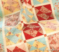 La Primavera Quilt Kit featuring Lario by 3 Sisters! More info on the Jolly Jabber
