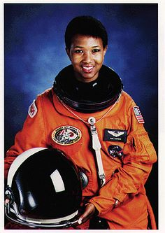 Dr. Mae Jemison. The First Black Woman In Space. http://www.universetoday.com/wp-content/uploads/2011/03/Mae-Jemison.gif
