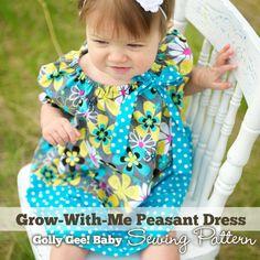 GrowWithMe+Peasant+Baby+Dress+Sewing+Pattern+by+GollyGeeBaby,+$5.00