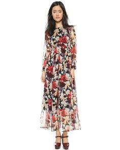 Modest Floral Dress