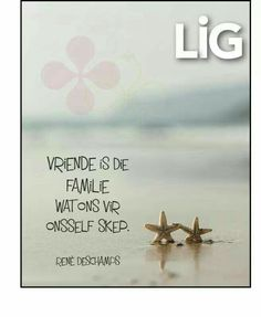 Vriende is familie wat ons vir onsself skep Fine Quotes, Sea Quotes, Poetry Quotes, Afrikaanse Quotes, Proverbs Quotes, My Land, Friendship Quotes, Word Art, Wise Words