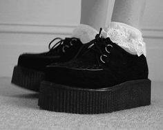 Creepers with lace socks <3