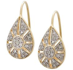 You can be certain that whenever you wear these yellow gold diamond filigree drop earrings, you'll be the best accessorized person in any room. Gold Earrings, Drop Earrings, Pearl Diamond, Love To Shop, Gemstone Beads, Jewelery, At Least, Jewelry Making, Valentines