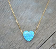 Heart Opal Necklace Spring Fashion 14k Gold filled chain by lianie | @bhldn | @seattlebridemag