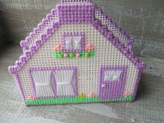 Handmade Plastic Canvas Spring House Napkin by WildPinkRoses