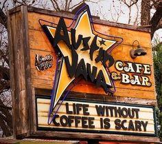 Austin Java on Barton Springs Coffee Latte, I Love Coffee, Coffee Time, Coffee Cups, Coffee Break, Black Coffee, Coffee Shops Austin, Cuppa Joe, Coffee Humor