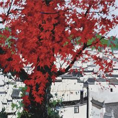 Pang Jiun (Chinese, b. 1936), Spring, 2016-17. Oil on canvas, 200 x 200 cm.  166 notes