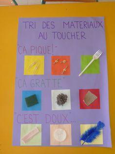 French Five Senses: les cinq sens. Le toucher : tri de matériaux