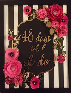 Kate Spade inspired countdown bridal shower sign made with cricut