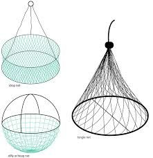 A drop net, dilly (hoop net) and tangle net (inverted dilly or witches hat net). Tangle net image sourced from Butcher et al. Crab Net, Hoop Net, Crab Trap, Rock Lobster, Wire Mesh, Hanging Chair, Witches, Drop, Hat
