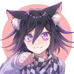[New Danganronpa Anime Neko, Kawaii Anime, Anime Manga, Anime Guys, Anime Art, Danganronpa Memes, Danganronpa Characters, Chibi, Byakuya Togami