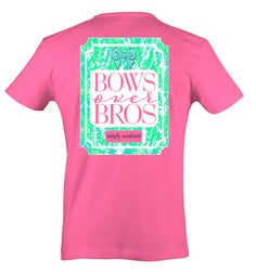 Simply Southern Short Sleeve Bubblegum Pink T-Shirt - Black Friday Special Bows over Bros - Pretendtimetoys - 1 Simply Southern Shirts, Bubblegum Pink, Printed Tees, Personalized Gifts, Bows, Black Friday, Mens Tops, T Shirt, Sleeve