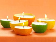 Fruit With a Party Twist - use citrus, pineapples, etc., for summer candles!