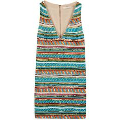 Womens Mini Dresses Alice + Olivia Venetia Striped Beaded Dress ($1,115) ❤ liked on Polyvore featuring dresses, платья, striped mini dress, beaded cocktail dress, beaded dress, short beaded cocktail dresses and colorful dresses
