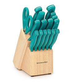 Kitchenaid Cutlery kitchenaid® delrin 12-pc. teal stamped cutlery set | kitchen