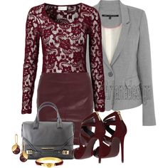 """Dolce & Gabbana Burgundy Ankle Strap Sandals"" by arjanadesign on Polyvore"