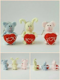 St. Valentine's crochet toy keychain by KuklaMania on Etsy