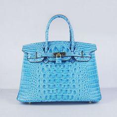 Cheap Replica Hermes Birkin Crocodile Head Veins Leather Bag Light Blue 6 For Sale Sac Birkin Hermes, Hermes Bags, Hermes Handbags, Cheap Handbags, Cheap Bags, Black Handbags, Fashion Handbags, Fashion Bags, Leather Handbags