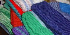 Knitting machine easy knit stockinette stocking hats
