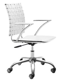 Zuo Modern Criss Cross Office Chair  in White