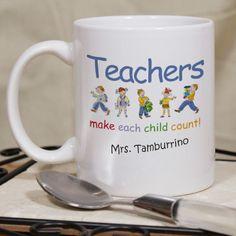 Personalized Make Each Child Count Teacher Coffee Mug