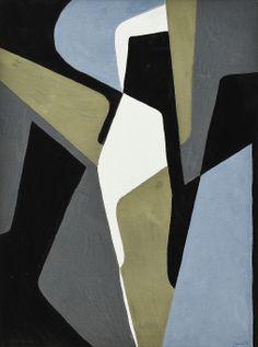 Gerd Nordenskjöld (1913-1999), composition, gouache