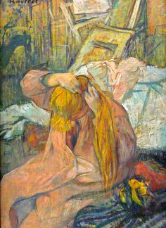 Henri de Toulouse-Lautrec Woman Combing Her Hair - The Largest Art reproductions Center In Our website. Low Wholesale Prices Great Pricing Quality Hand paintings for saleHenri de Toulouse-Lautrec Henri De Toulouse Lautrec, Monet, Figure Painting, Painting & Drawing, Renoir, French Art, Op Art, Van Gogh, Art Nouveau