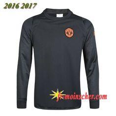 Le Nouveau:Champions Sweatshirt Training de Manchester United Velours Noir  2016 2017 9b23312e5667