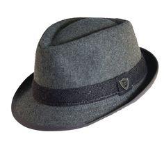 Dorfman Pacific Men s Wool Blend Herringbone Band Fedora Hat (Grey d7567b4e1da7