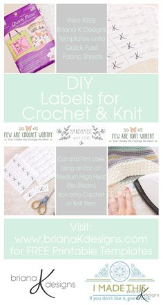 DIY Labels for Crochet and Knit by Briana K Designs