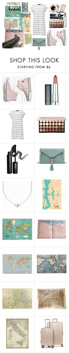 """travel"" by mmmescher on Polyvore featuring Madewell, Maybelline, INIKA, Mellow World, Minnie Grace, Pier 1 Imports, Leftbank Art and CalPak"