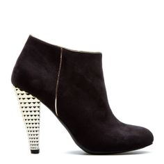 I love these booties.  The heel makes the shoes unique!