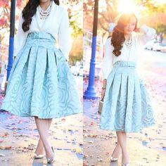 Kt Rcollection Rosette Full Midi Skirt