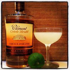 Easy cocktail from @diffordsguide Orange Daiquiri: 2 oz @Rhum Clement Creole Shrubb, 1/2 oz lime shaken #cocktails