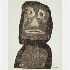 LOT 93 JEAN DUBUFFETJean Dubuffet, (1901-1985) - Personnage, Medium: Lithograph, Dimensions: H: 12 1/4 W: 9 1/2 Est: $80-120 Signature Signed lower right in print. https://www.graysauctioneers.com