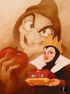 "The evil queen in Disney's classic ""Snow White"", 1937."