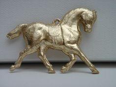 §§§ : Dresden molded cardboard horse ornament ca.1880-1910