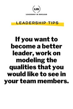 If you want to become a better leader, work on modeling the qualities that you would like to see in your team members. . . #leadershiptraining #growthmindset #LeadershipinNuclear #productivity #personalgrowth #businessplan #selfimprovement #businessstartup #entrepreneurial #businessinsider #businessgoals #leadershipgrowth #leadershipskills #overcomeobstacles #entrepreneurialspirit #showupforyourself Business Goals, Start Up Business, Business Planning, Online Business, Importance Of Leadership, Leadership Tips, Train Your Mind, How To Train Your, Building A Personal Brand