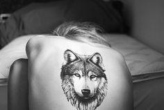 tumblr #tattoos wolf