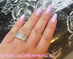 pastel purple nails almond shape